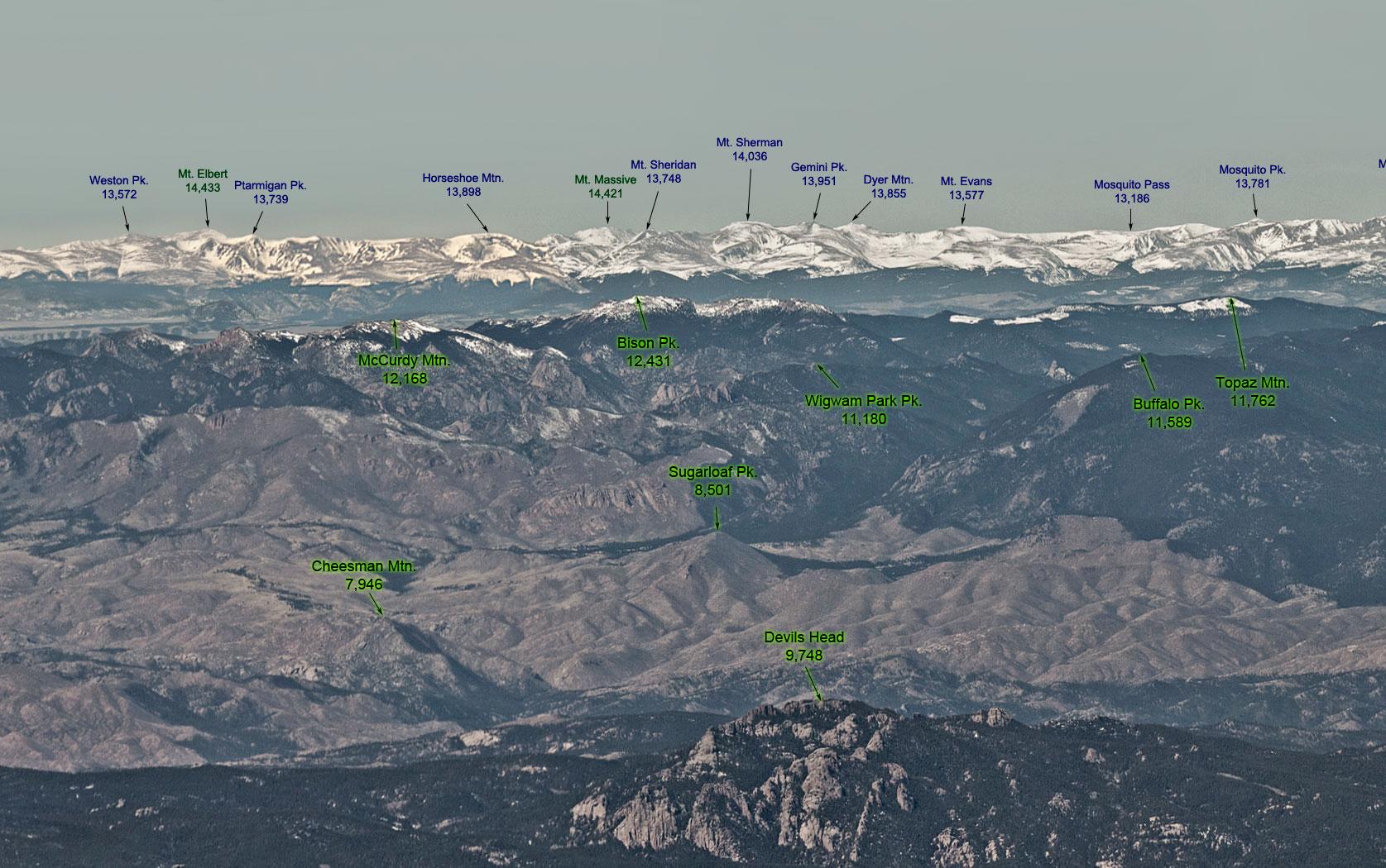 front range photos of the mountains